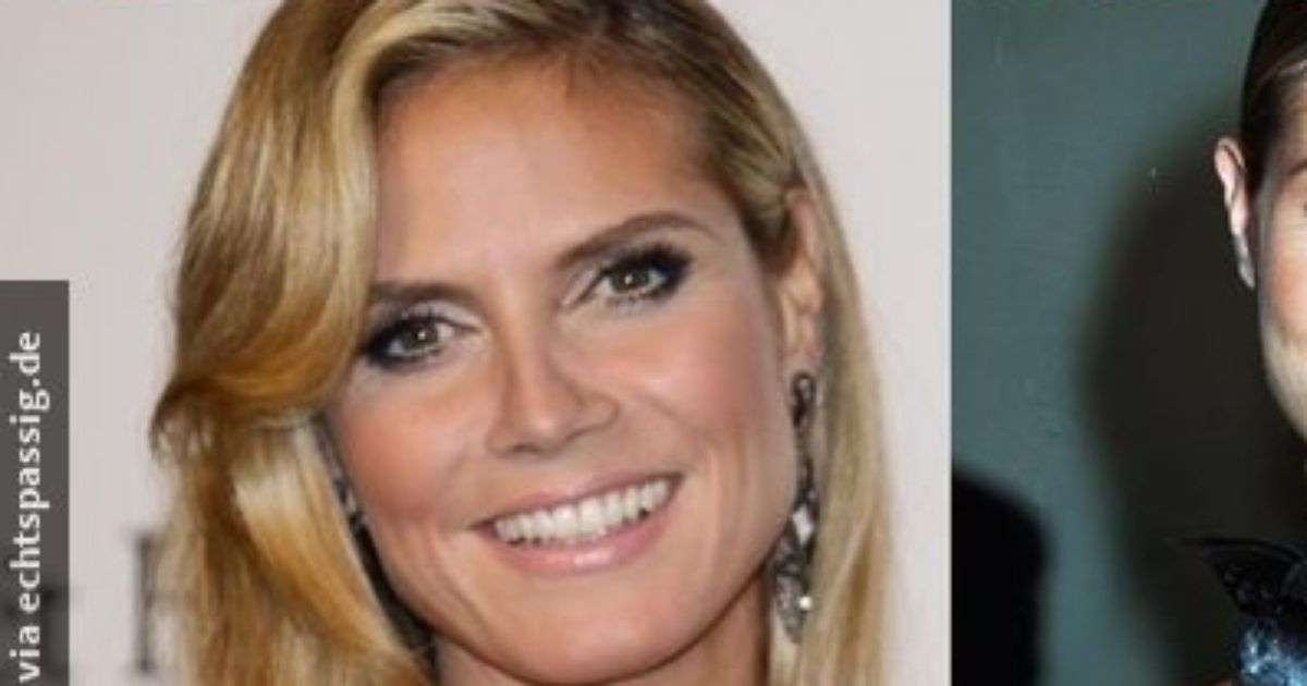 Heidi Klum earlier and today