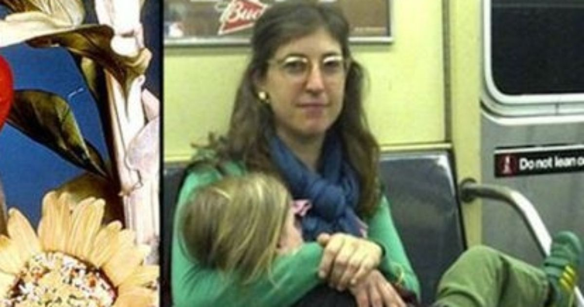 Mayim Bialik earlier and today!
