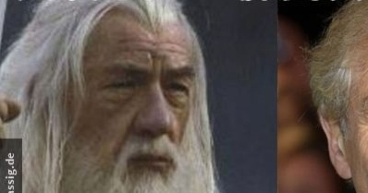 Gandalf in the movie and real life