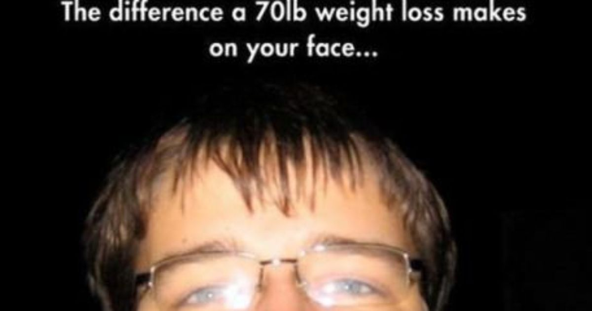He lost 70 pounds!