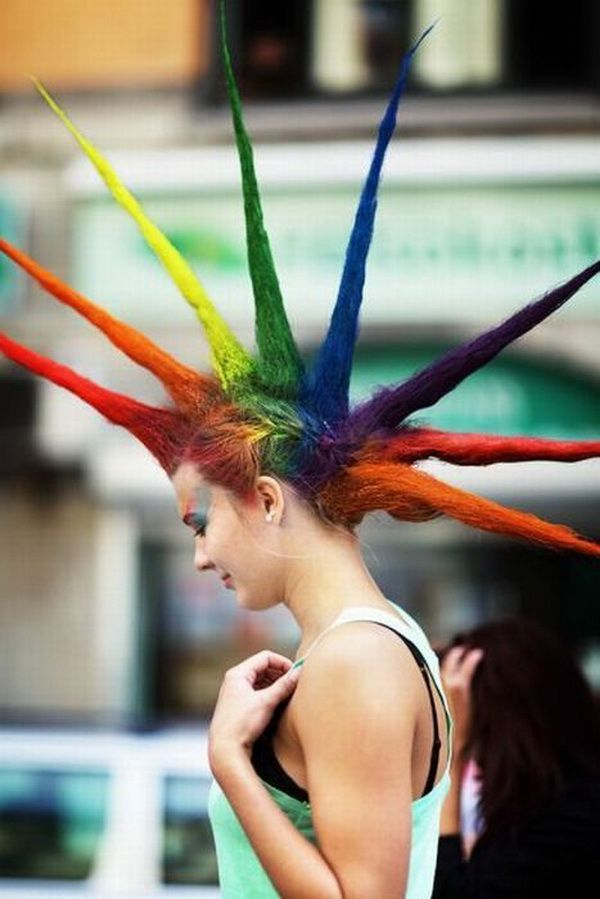 Awesome hairstyle...